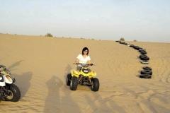 having fun in the desert