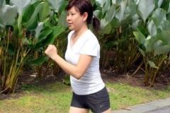 Jogging confidently in my vacuum_wig