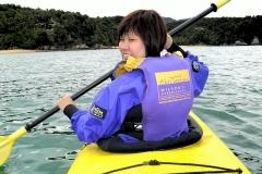 Kayaking in the open sea